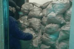 Сбор мусора в мешки